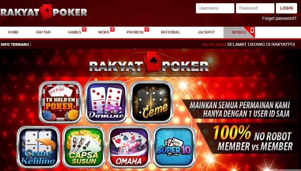 Rakyatpoker Agen Judi Idn Poker Online Terbesar